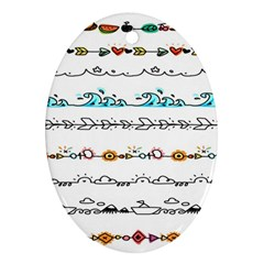Decoration Element Style Pattern Oval Ornament (two Sides) by Sapixe