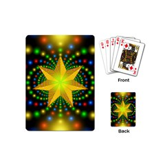 Christmas Star Fractal Symmetry Playing Cards (mini)  by Sapixe