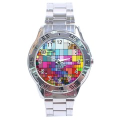 Color Abstract Visualization Stainless Steel Analogue Watch