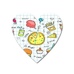Colorful Doodle Soda Cartoon Set Heart Magnet by Sapixe