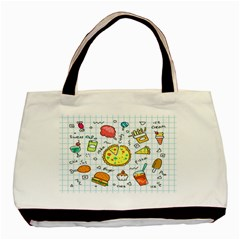 Colorful Doodle Soda Cartoon Set Basic Tote Bag by Sapixe