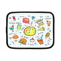 Colorful Doodle Soda Cartoon Set Netbook Case (small)  by Sapixe