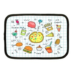 Colorful Doodle Soda Cartoon Set Netbook Case (medium)  by Sapixe