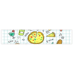 Colorful Doodle Soda Cartoon Set Small Flano Scarf