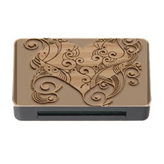 Wood Sculpt Carved Background Memory Card Reader With Cf by Sapixe