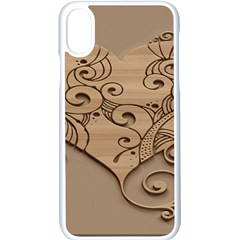 Wood Sculpt Carved Background Apple Iphone X Seamless Case (white)