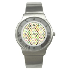 Background Multicolored Star Stainless Steel Watch by Sapixe