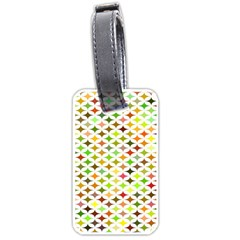 Background Multicolored Star Luggage Tags (one Side)  by Sapixe