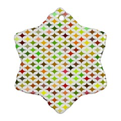 Background Multicolored Star Ornament (snowflake) by Sapixe