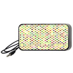 Background Multicolored Star Portable Speaker by Sapixe