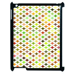 Background Multicolored Star Apple Ipad 2 Case (black) by Sapixe