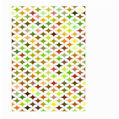 Background Multicolored Star Large Garden Flag (two Sides) by Sapixe