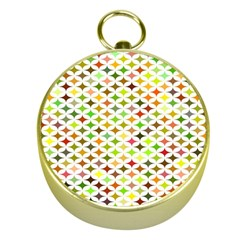 Background Multicolored Star Gold Compasses by Sapixe