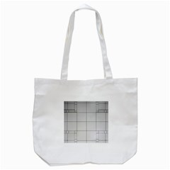 Abstract Architecture Contemporary Tote Bag (white) by Sapixe