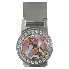 Retro Background Colorful Hippie Money Clips (cz)  by Sapixe