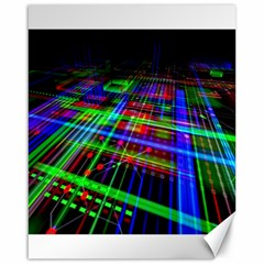 Electronics Board Computer Trace Canvas 16  X 20   by Sapixe