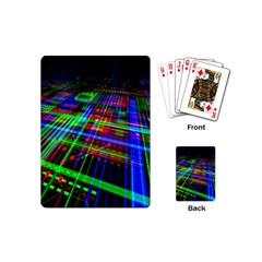 Electronics Board Computer Trace Playing Cards (mini)  by Sapixe