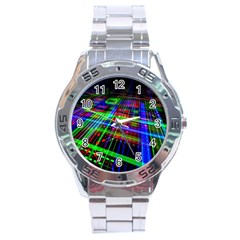 Electronics Board Computer Trace Stainless Steel Analogue Watch by Sapixe