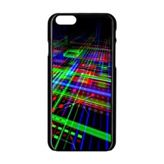 Electronics Board Computer Trace Apple Iphone 6/6s Black Enamel Case by Sapixe