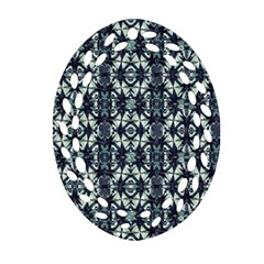 Intersecting Geometric Design Ornament (oval Filigree) by dflcprints