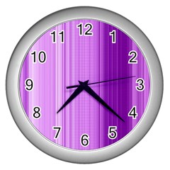 Background Texture Pattern Purple Wall Clocks (silver)  by Sapixe