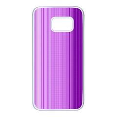Background Texture Pattern Purple Samsung Galaxy S7 White Seamless Case