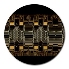Board Digitization Circuits Round Mousepads by Sapixe