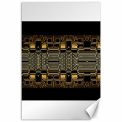 Board Digitization Circuits Canvas 24  X 36  by Sapixe