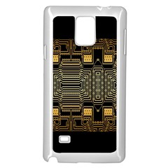 Board Digitization Circuits Samsung Galaxy Note 4 Case (white) by Sapixe