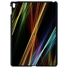 Lines Rays Background Light Apple Ipad Pro 9 7   Black Seamless Case