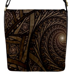 Abstract Pattern Graphics Flap Messenger Bag (s) by Sapixe