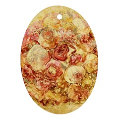 Vintage Digital Graphics Flower Ornament (oval)