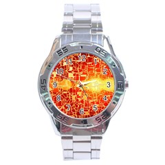 Board Conductors Circuits Stainless Steel Analogue Watch by Sapixe