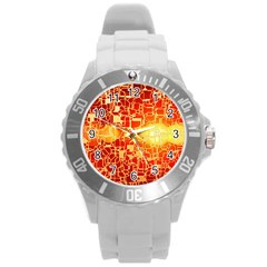 Board Conductors Circuits Round Plastic Sport Watch (l) by Sapixe