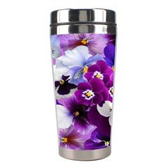 Graphic Background Pansy Easter Stainless Steel Travel Tumblers by Sapixe