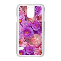 Flowers Blossom Bloom Nature Color Samsung Galaxy S5 Case (white) by Sapixe