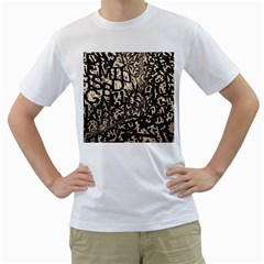 Pattern Design Texture Wallpaper Men s T Shirt (white) (two Sided) by Sapixe