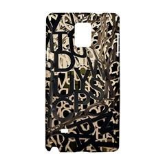 Pattern Design Texture Wallpaper Samsung Galaxy Note 4 Hardshell Case by Sapixe