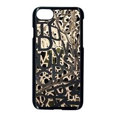 Pattern Design Texture Wallpaper Apple Iphone 7 Seamless Case (black) by Sapixe