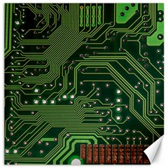 Board Computer Chip Data Processing Canvas 12  X 12   by Sapixe