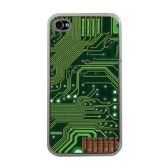 Board Computer Chip Data Processing Apple Iphone 4 Case (clear) by Sapixe