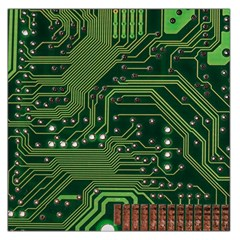 Board Computer Chip Data Processing Large Satin Scarf (square) by Sapixe