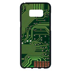 Board Computer Chip Data Processing Samsung Galaxy S8 Plus Black Seamless Case