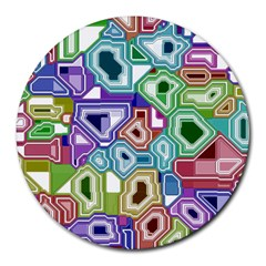 Board Interfaces Digital Global Round Mousepads by Sapixe
