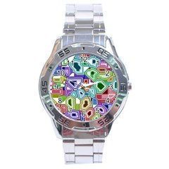 Board Interfaces Digital Global Stainless Steel Analogue Watch by Sapixe