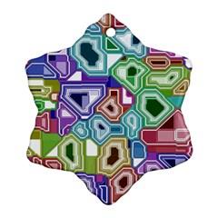 Board Interfaces Digital Global Ornament (snowflake) by Sapixe