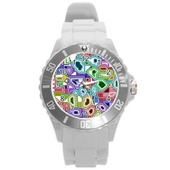 Board Interfaces Digital Global Round Plastic Sport Watch (l) by Sapixe