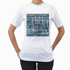 Board Circuit Control Center Women s T Shirt (white) (two Sided) by Sapixe
