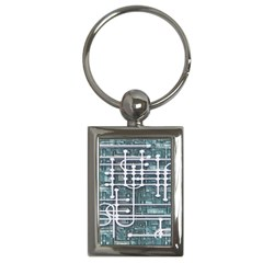 Board Circuit Control Center Key Chains (rectangle)  by Sapixe