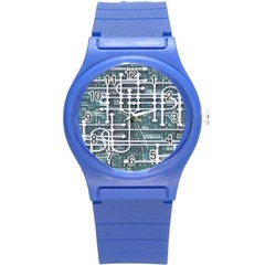 Board Circuit Control Center Round Plastic Sport Watch (s) by Sapixe